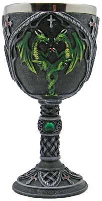 Green Dragon chalice 7 1/4""