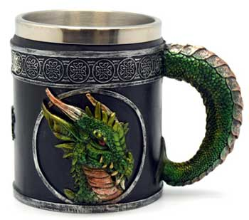 "4 1/4"" Dragon tankard"