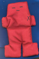 Red Voodoo Doll  5""