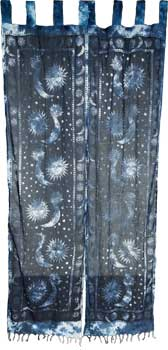"Sun & Moon curtain pair 22"" x 72"""