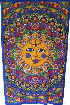 "54"" x 86"" Sun Multi Color tapestry"