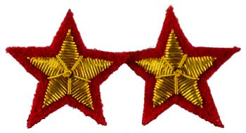 Star sew-on patch Red  (set of 2) patch 2""