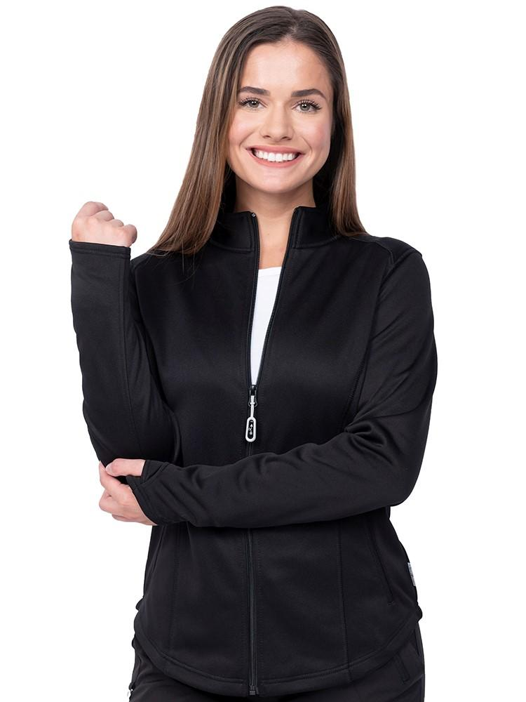 Ava Therese Women's Bonded Fleece Jacket | Black - Scrub Pro Uniforms