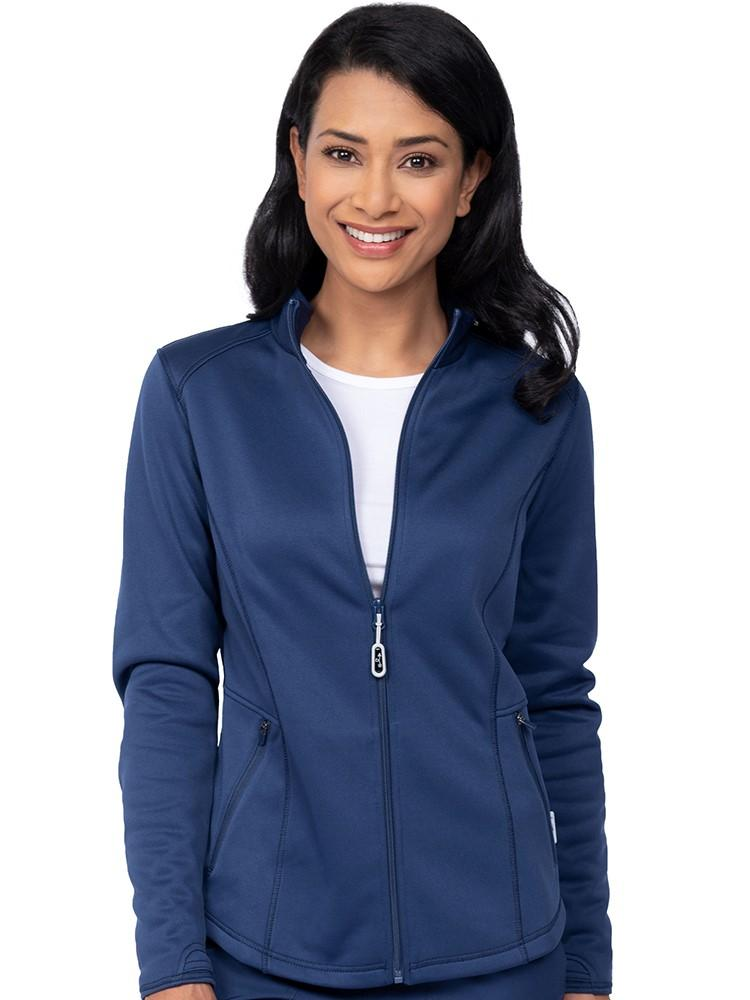 Ava Therese Women's Bonded Fleece Jacket | Navy - Scrub Pro Uniforms