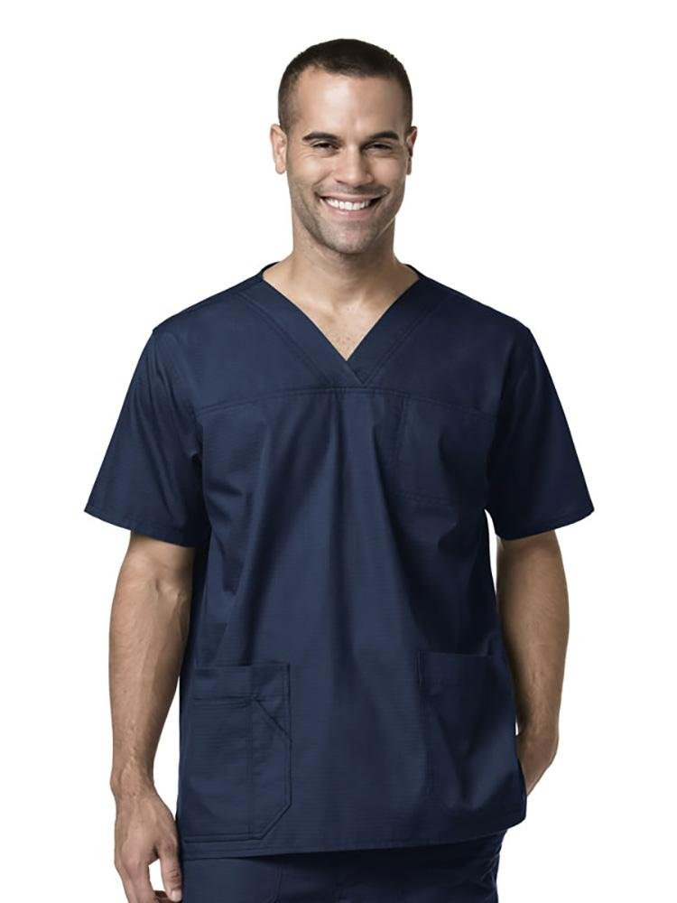 Carhartt Men's Ripstop Multi-Pocket Scrub Top | Navy - Scrub Pro Uniforms