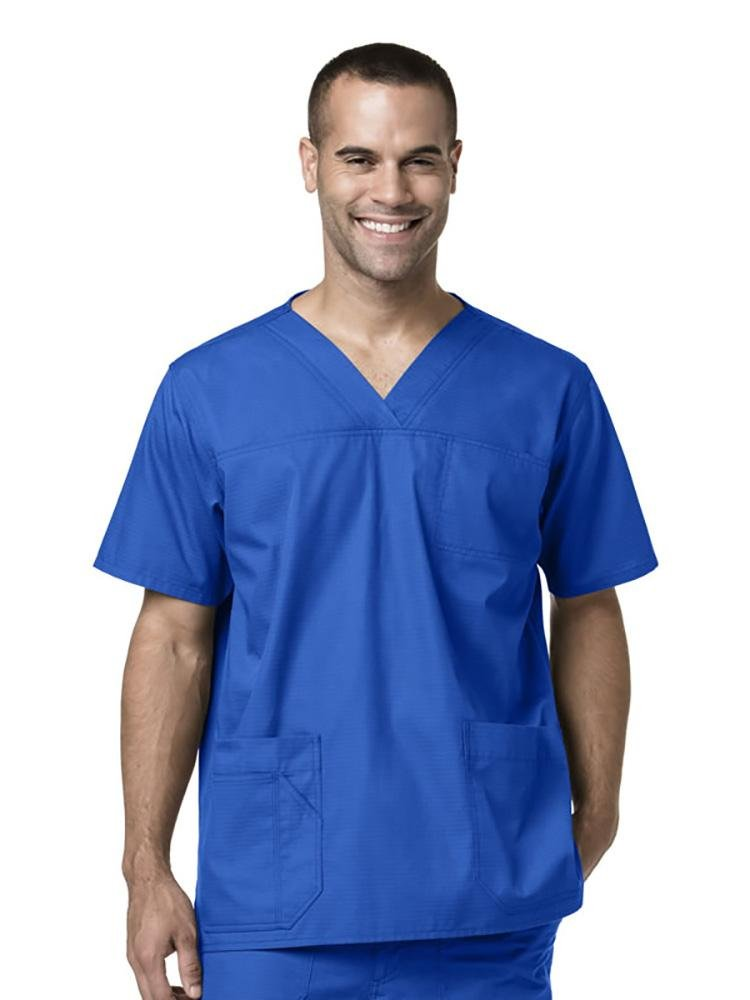 Carhartt Men's Ripstop Multi-Pocket Scrub Top | Royal - Scrub Pro Uniforms