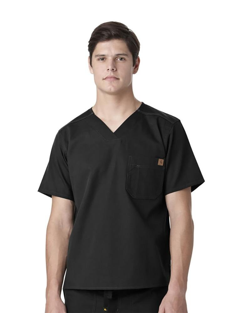 Carhartt Men's Ripstop Utility Top | Black - Scrub Pro Uniforms