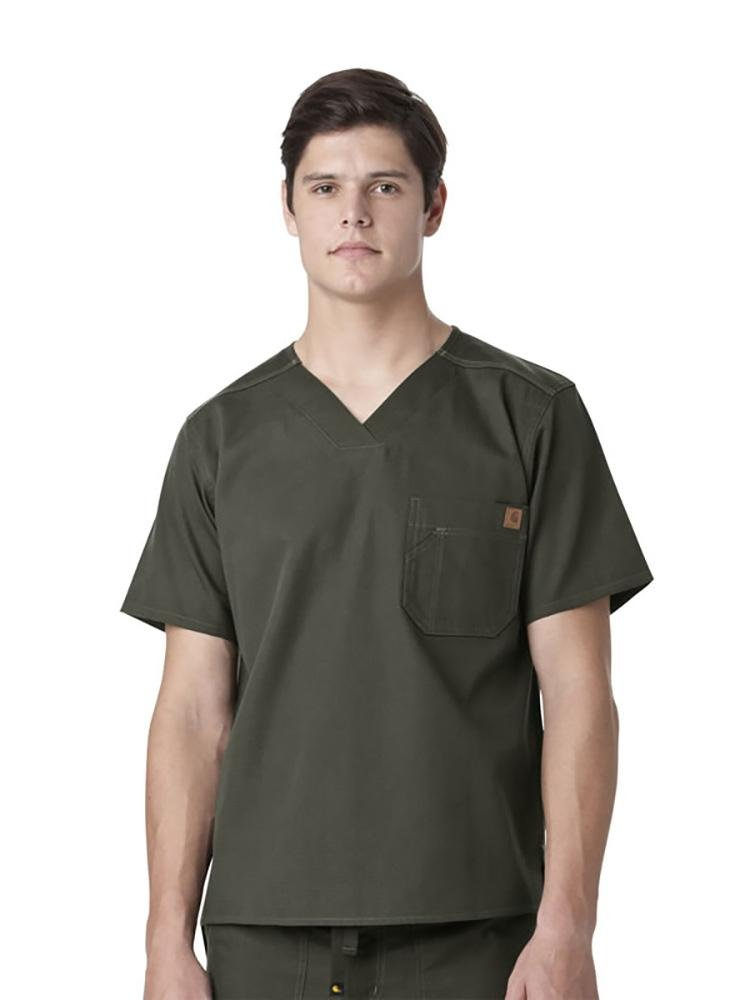 Carhartt Men's Ripstop Utility Top | Olive - Scrub Pro Uniforms