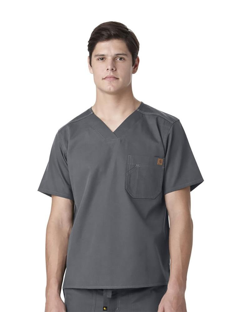 Carhartt Men's Ripstop Utility Top | Pewter - Scrub Pro Uniforms