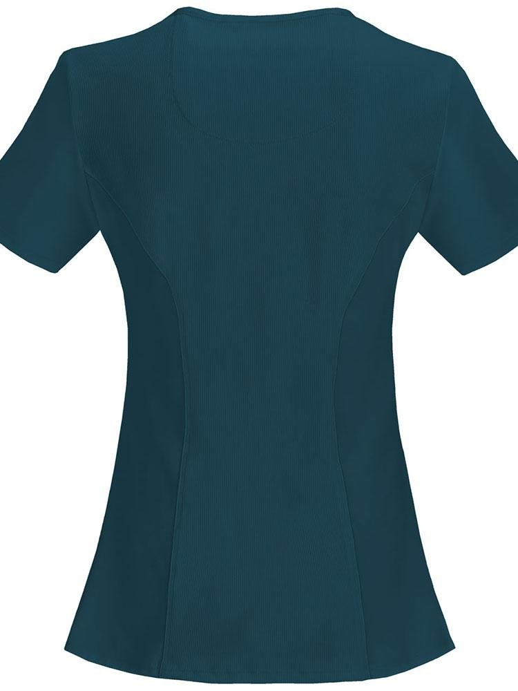 Cherokee Infinity Women's Antimicrobial Mock Wrap Top | Caribbean - Scrub Pro Uniforms