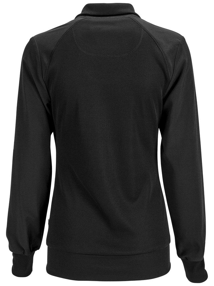 Cherokee Infinity Women's Antimicrobial Warm Up Jacket | Black - Scrub Pro Uniforms
