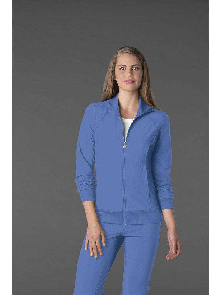 Cherokee Infinity Women's Antimicrobial Warm Up Jacket | Ciel - Scrub Pro Uniforms