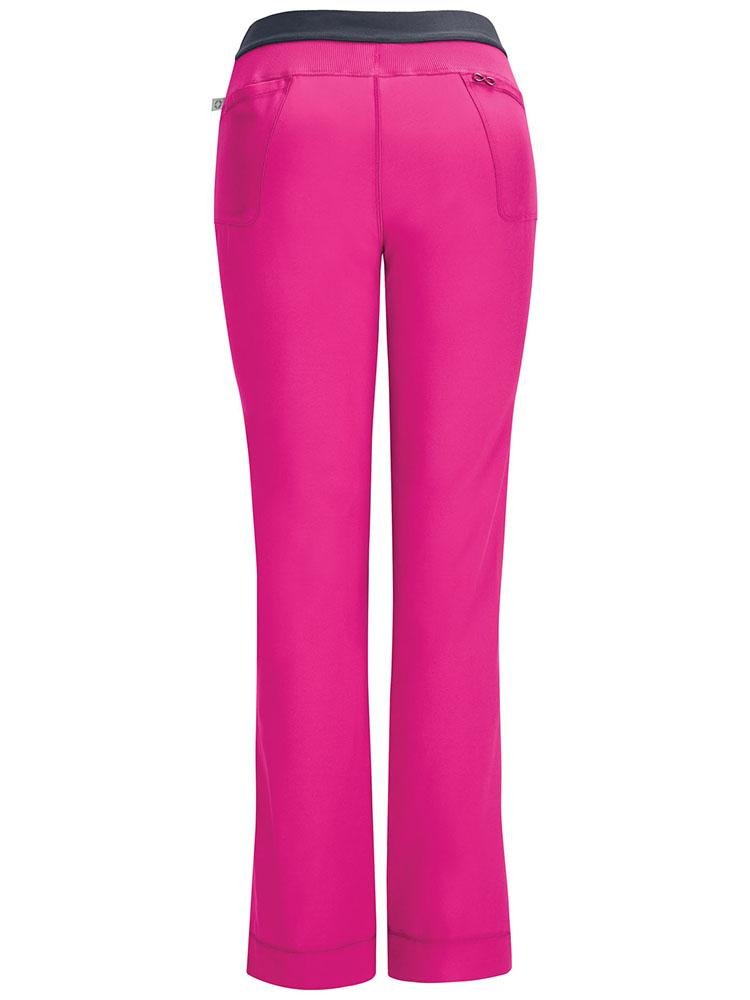 Cherokee Infinity Women's Low-Rise Slim Pull On Scrub Pant | Carmine Pink - Scrub Pro Uniforms