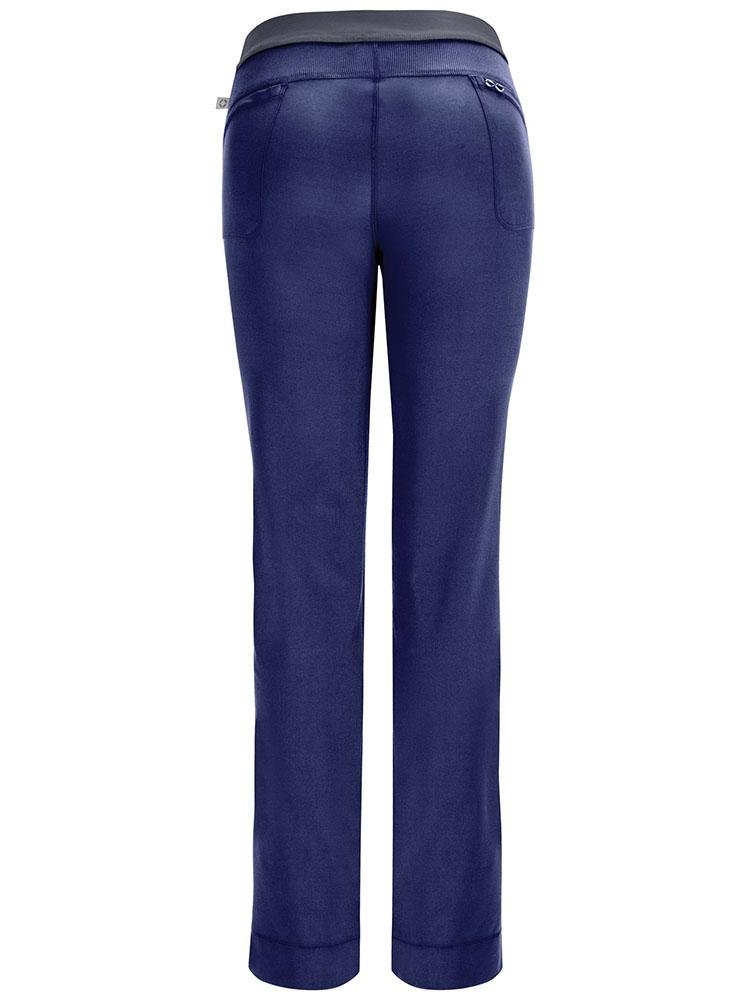 Cherokee Infinity Women's Low-Rise Slim Pull On Scrub Pant | Navy - Scrub Pro Uniforms