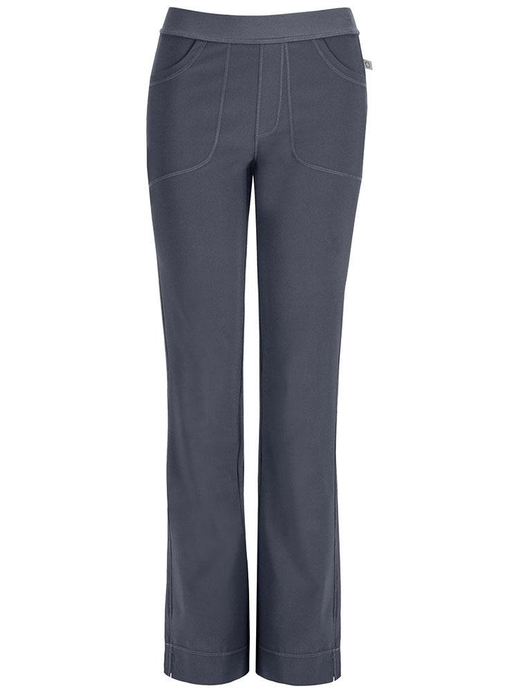 Cherokee Infinity Women's Low-Rise Slim Pull On Scrub Pant | Pewter - Scrub Pro Uniforms