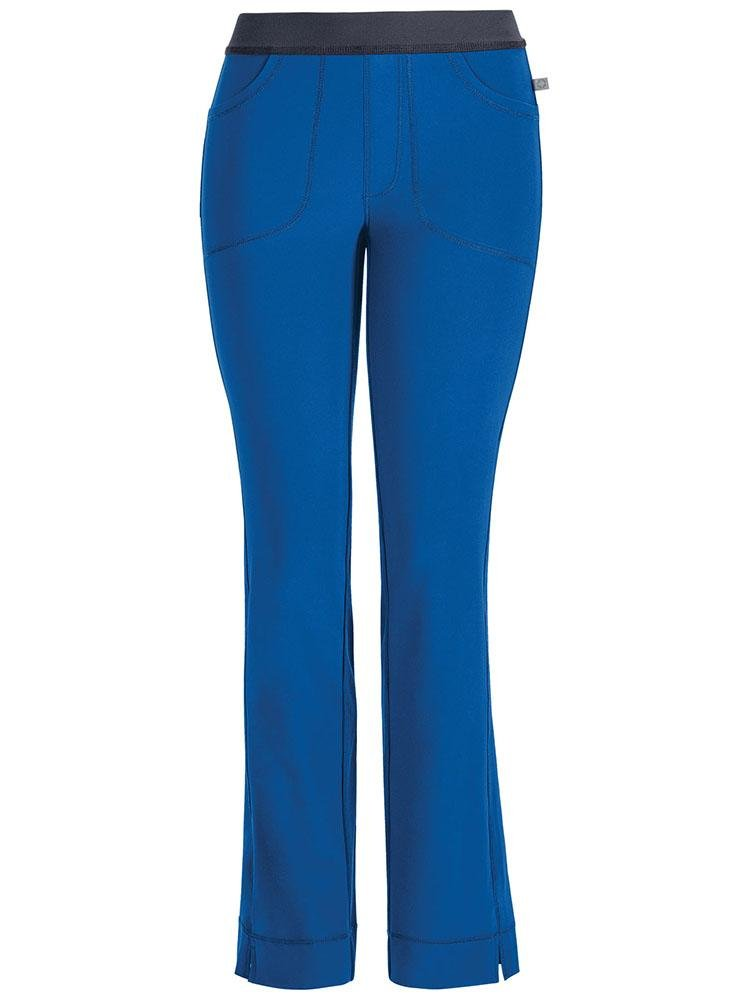 Cherokee Infinity Women's Low-Rise Slim Pull On Scrub Pant | Royal - Scrub Pro Uniforms