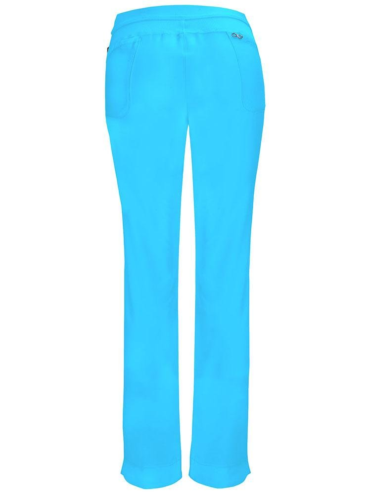 Cherokee Infinity Women's Low-Rise Slim Pull On Scrub Pant | Turquoise - Scrub Pro Uniforms