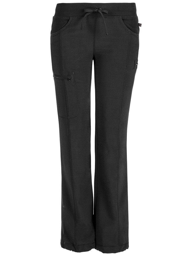 Cherokee Infinity Women's Low-Rise Straight Leg Scrub Pant | Black - Scrub Pro Uniforms