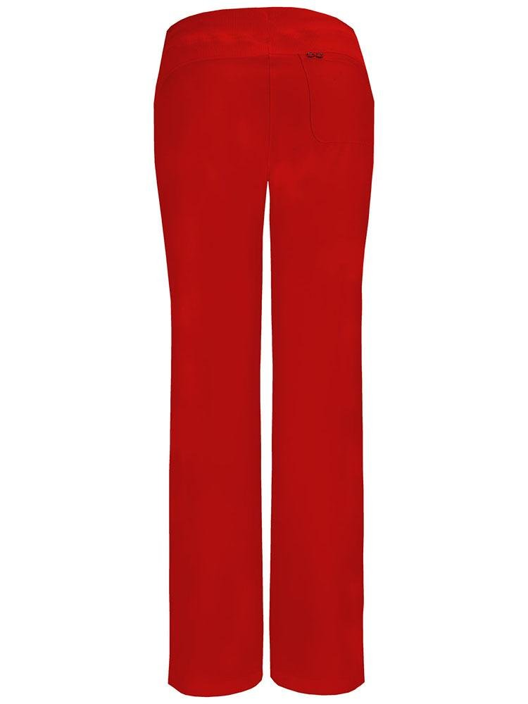 Cherokee Infinity Women's Low-Rise Straight Leg Scrub Pant | Red - Scrub Pro Uniforms