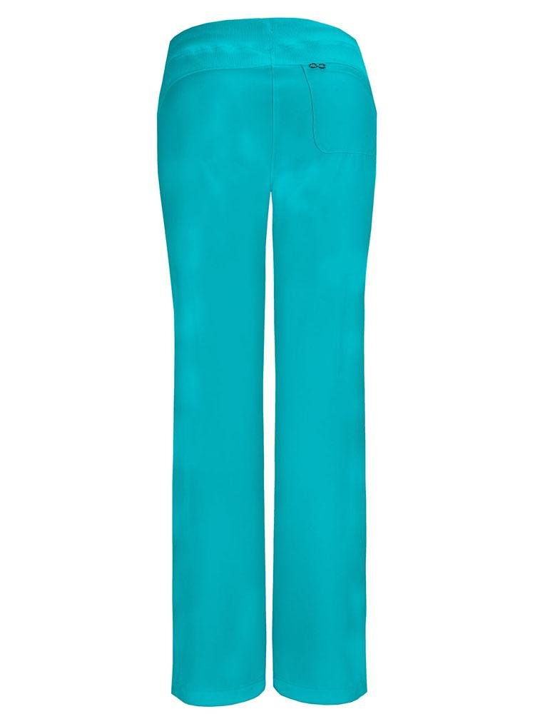 Cherokee Infinity Women's Low-Rise Straight Leg Scrub Pant | Teal - Scrub Pro Uniforms