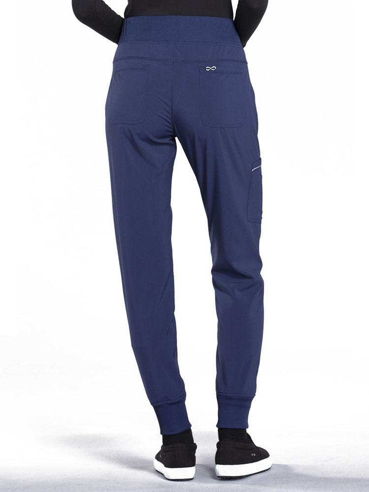 Cherokee Infinity Women's Mid Rise Tapered Jogger Scrub Pant | Navy - Scrub Pro Uniforms