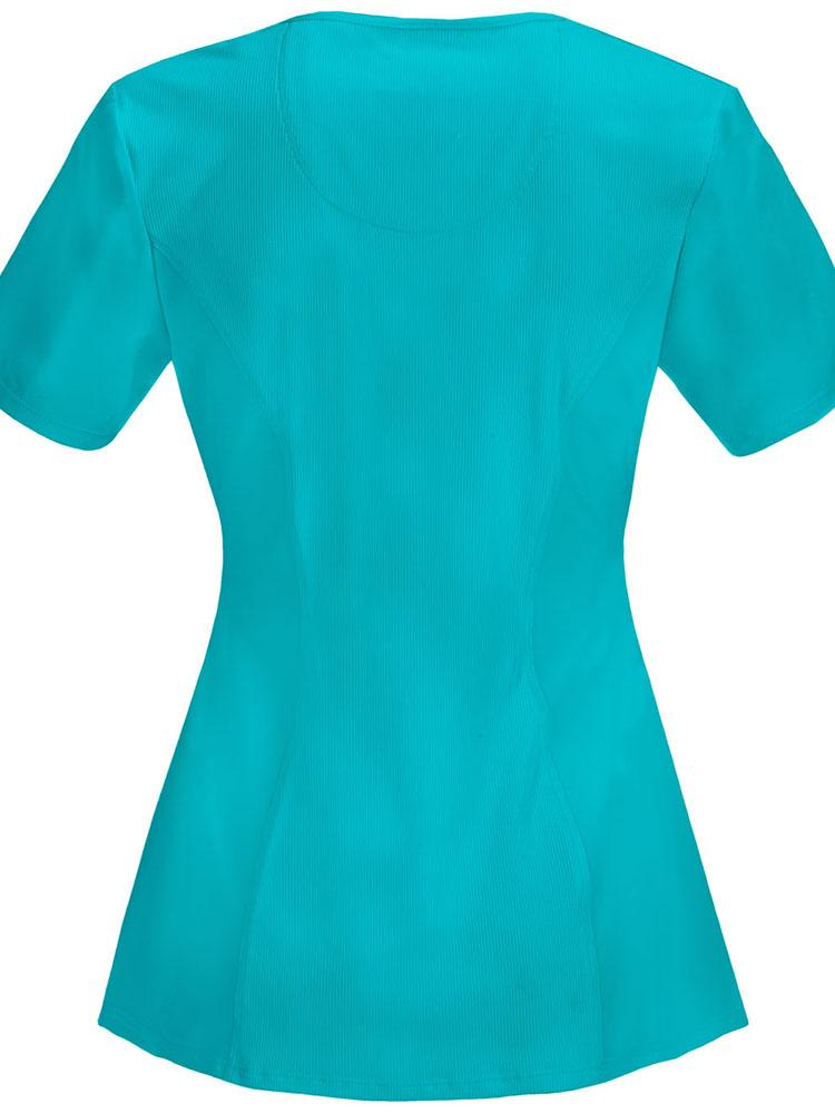 Cherokee Infinity Women's Round Neck Scrub Top | Teal - Scrub Pro Uniforms
