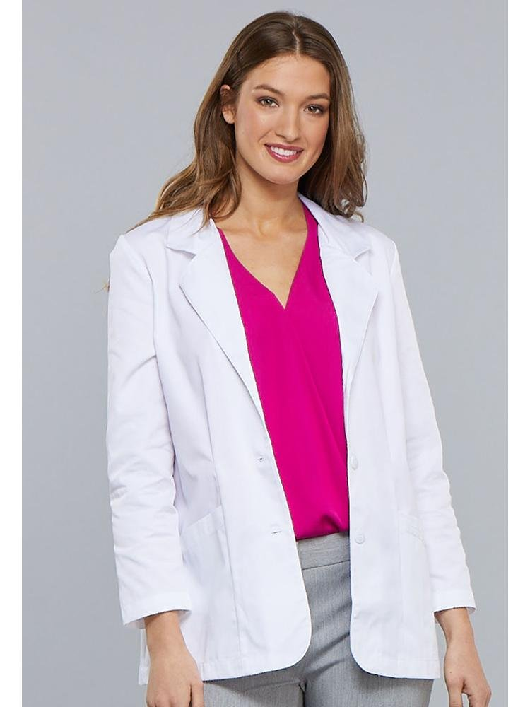 Cherokee Women's Modern Classic 30' Lab Coat | White - Scrub Pro Uniforms