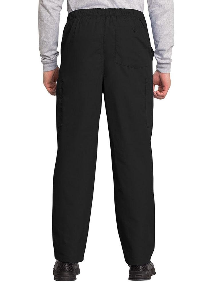 Cherokee Workwear Originals Men's Drawstring Cargo Scrub Pant | Black - Scrub Pro Uniforms