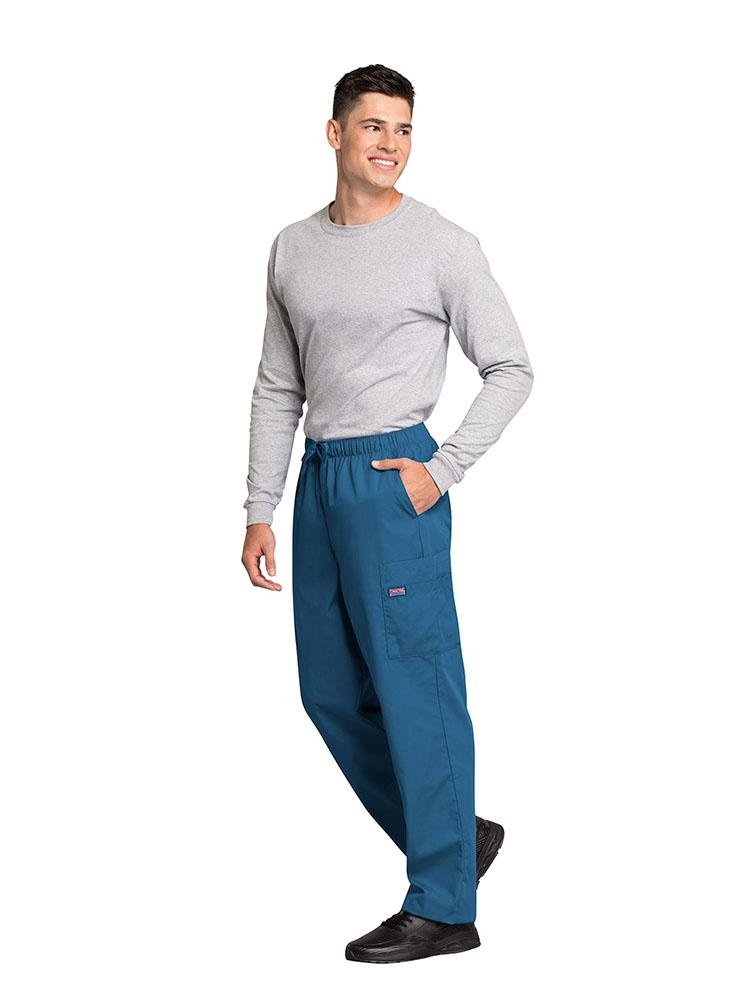 Cherokee Workwear Originals Men's Drawstring Cargo Scrub Pant | Caribbean - Scrub Pro Uniforms