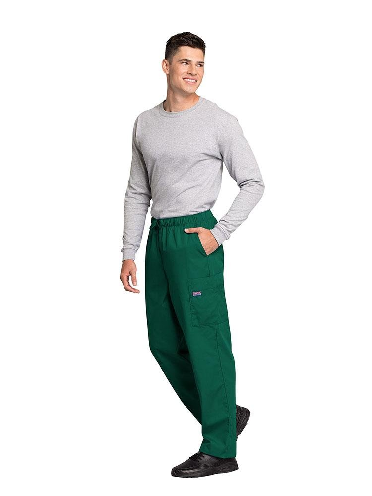 Cherokee Workwear Originals Men's Drawstring Cargo Scrub Pant | Hunter - Scrub Pro Uniforms