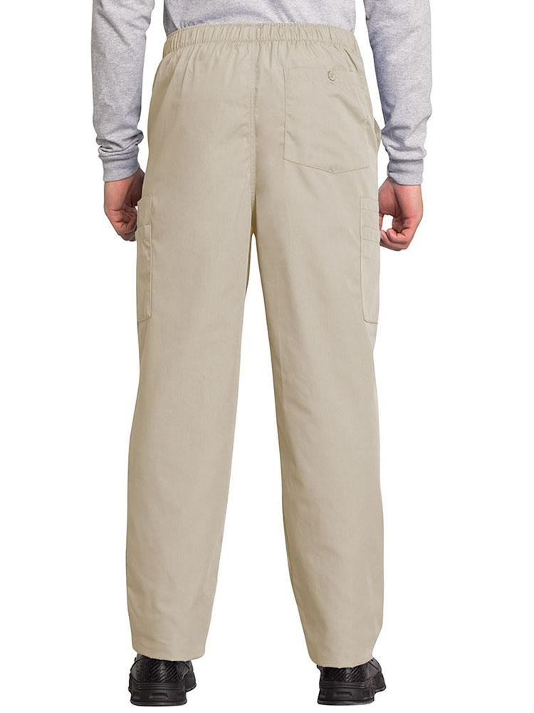 Cherokee Workwear Originals Men's Drawstring Cargo Scrub Pant | Khaki - Scrub Pro Uniforms