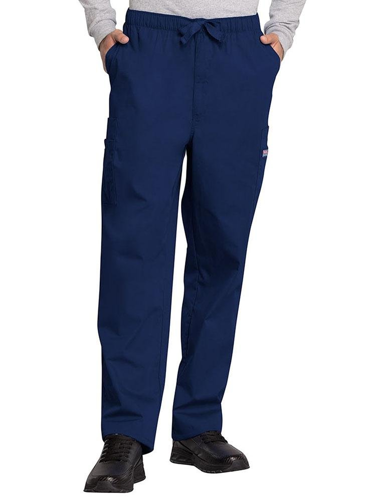 Cherokee Workwear Originals Men's Drawstring Cargo Scrub Pant | Navy - Scrub Pro Uniforms