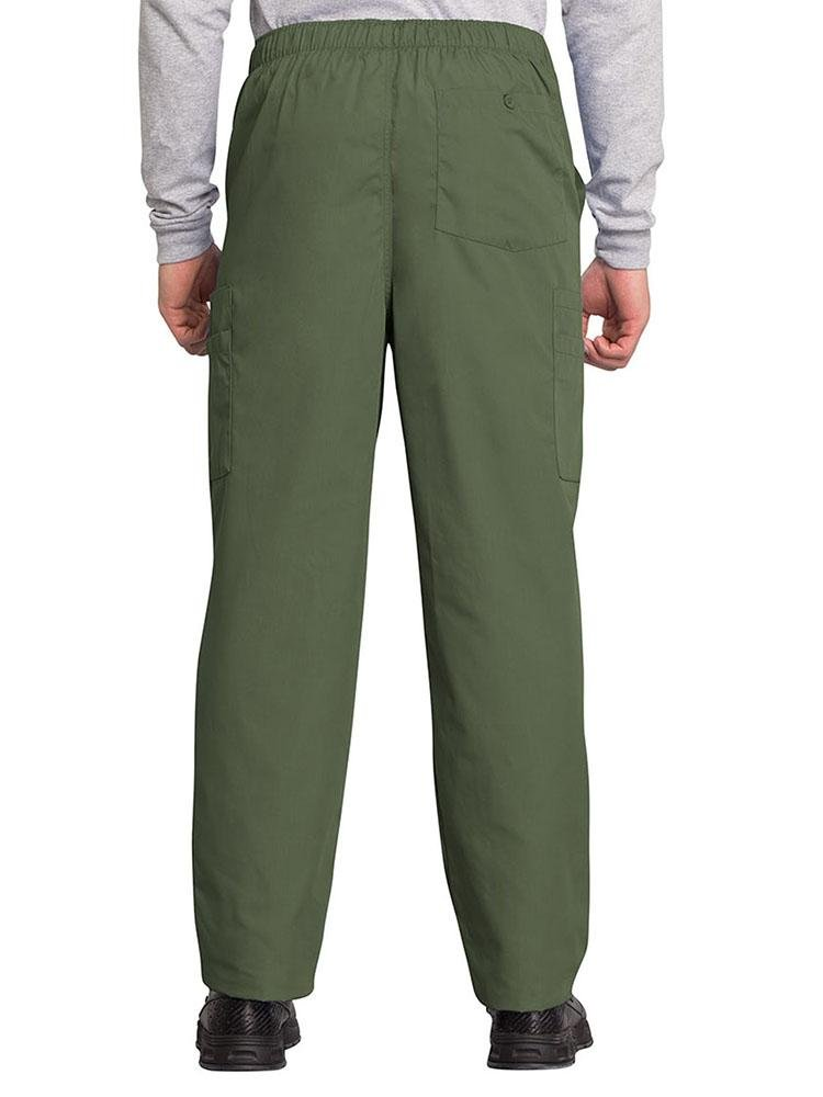 Cherokee Workwear Originals Men's Drawstring Cargo Scrub Pant | Olive - Scrub Pro Uniforms