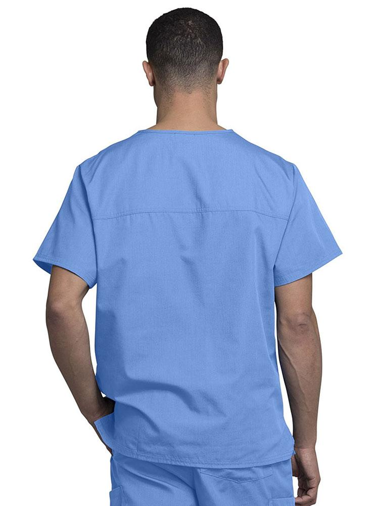 Cherokee Workwear Originals Men's Solid V-Neck Scrub Top | Ciel - Scrub Pro Uniforms