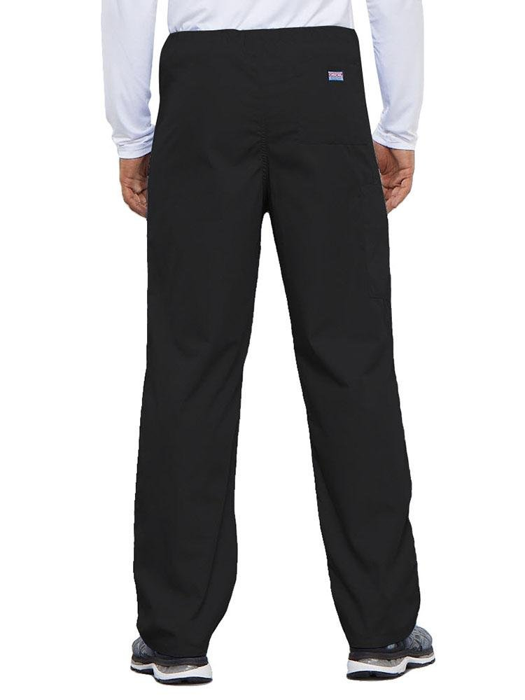 Cherokee Workwear Originals Unisex Drawstring Cargo Scrub Pant | Black - Scrub Pro Uniforms