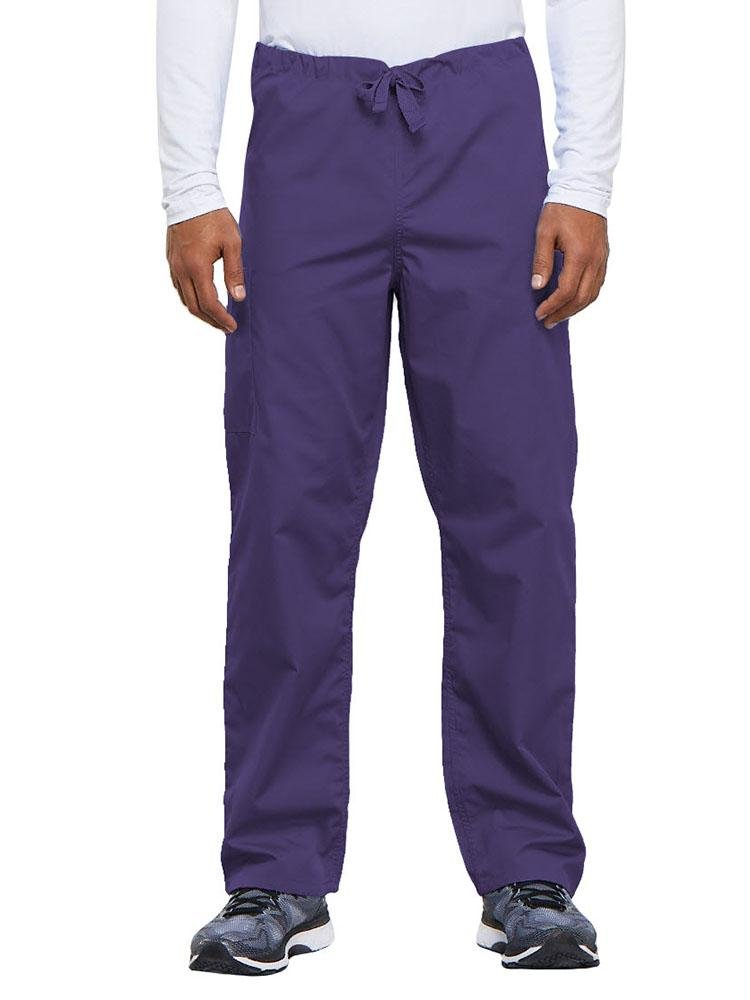 Cherokee Workwear Originals Unisex Drawstring Cargo Scrub Pant | Grape - Scrub Pro Uniforms