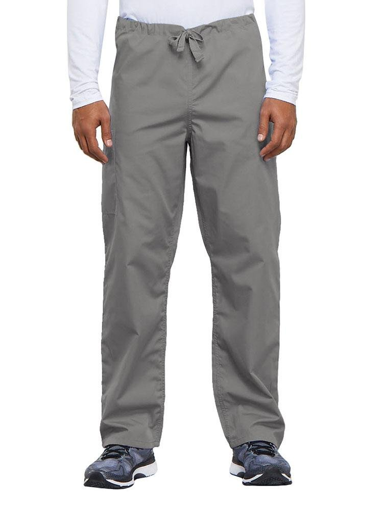 Cherokee Workwear Originals Unisex Drawstring Cargo Scrub Pant | Grey - Scrub Pro Uniforms