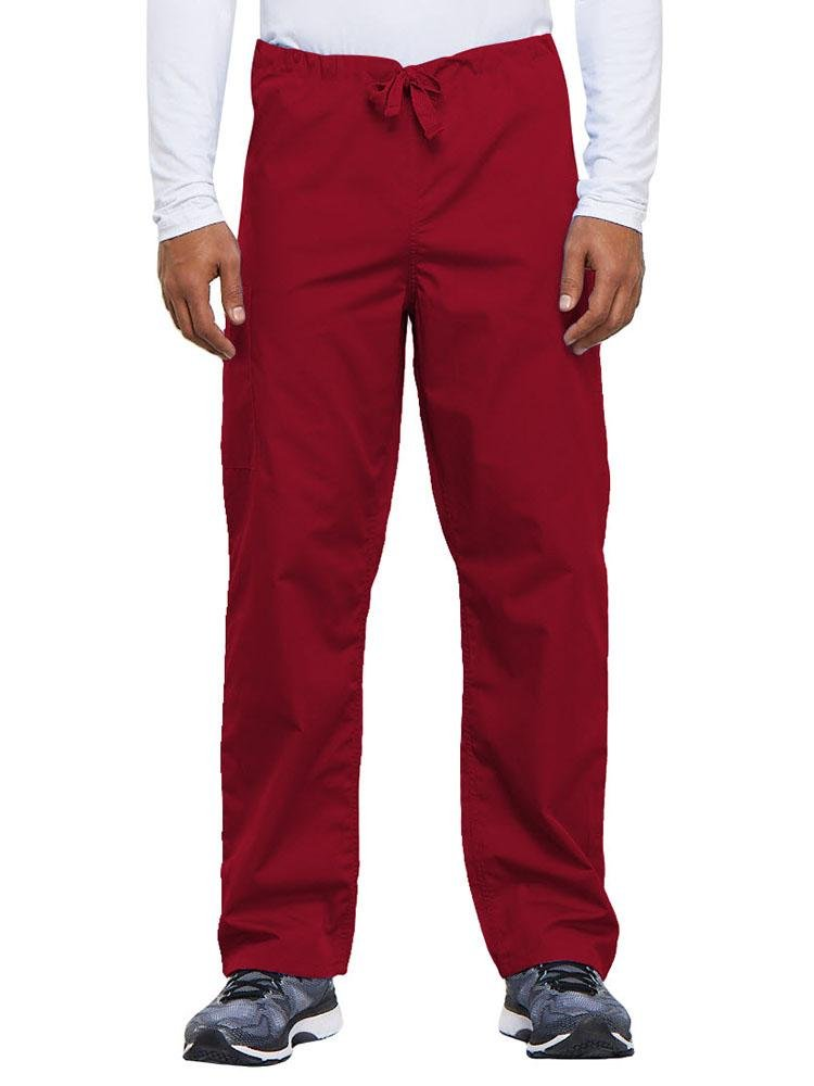 Cherokee Workwear Originals Unisex Drawstring Cargo Scrub Pant | Red - Scrub Pro Uniforms