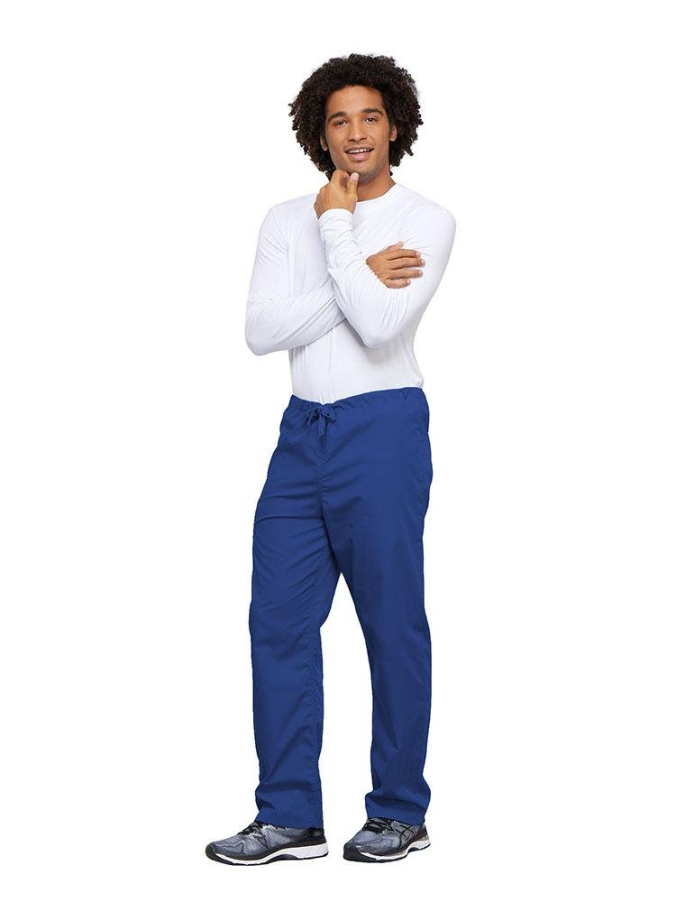 Cherokee Workwear Originals Unisex Drawstring Cargo Scrub Pant | Royal - Scrub Pro Uniforms