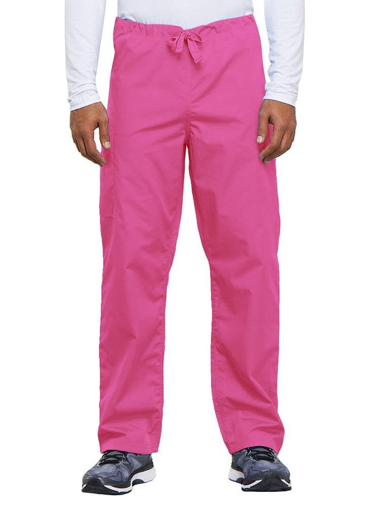 Cherokee Workwear Originals Unisex Drawstring Cargo Scrub Pant | Shocking Pink - Scrub Pro Uniforms