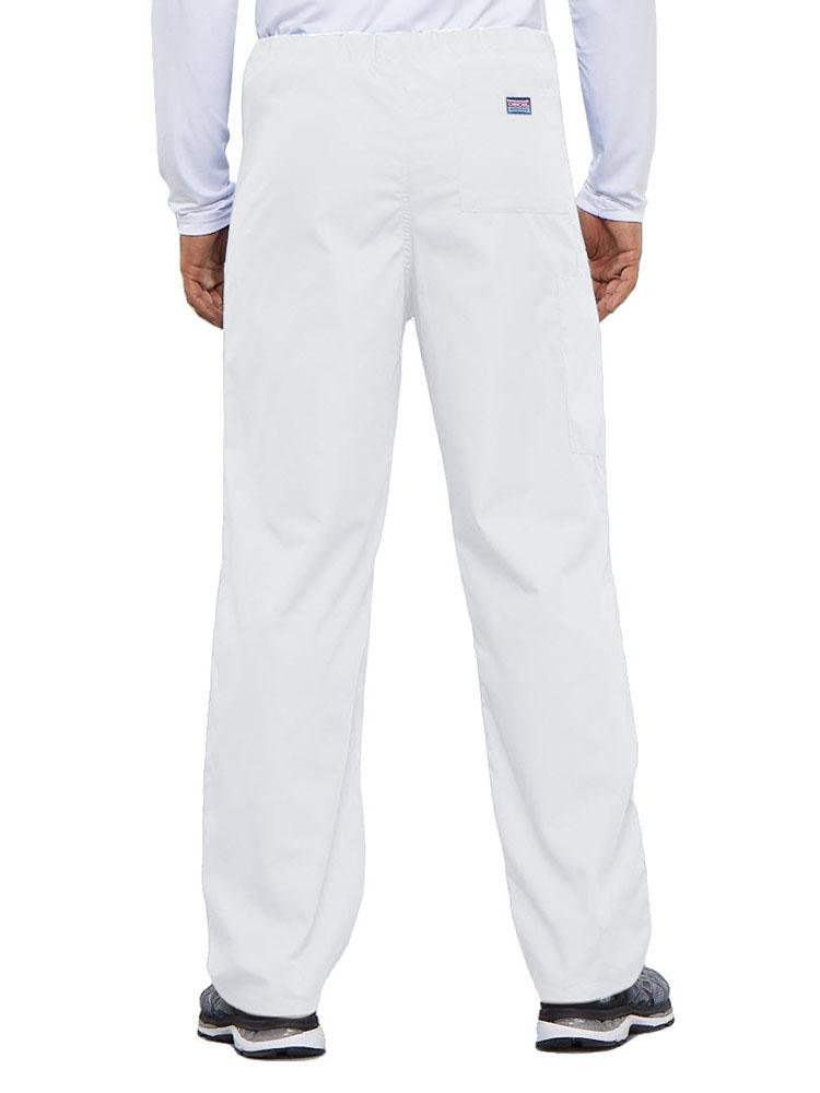 Cherokee Workwear Originals Unisex Drawstring Cargo Scrub Pant | White - Scrub Pro Uniforms