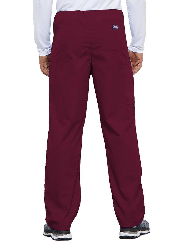 Cherokee Workwear Originals Unisex Drawstring Cargo Scrub Pant | Wine - Scrub Pro Uniforms