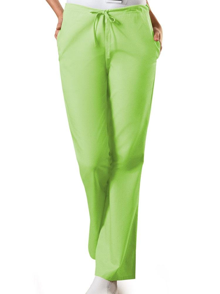 Cherokee Workwear Originals Women's Drawstring Flare Leg Scrub Pant | Lime Green - Scrub Pro Uniforms