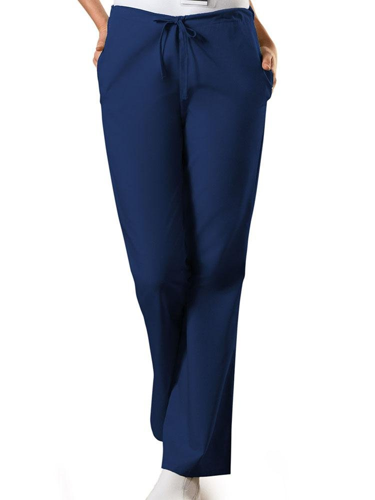 Cherokee Workwear Originals Women's Drawstring Flare Leg Scrub Pant | Navy - Scrub Pro Uniforms