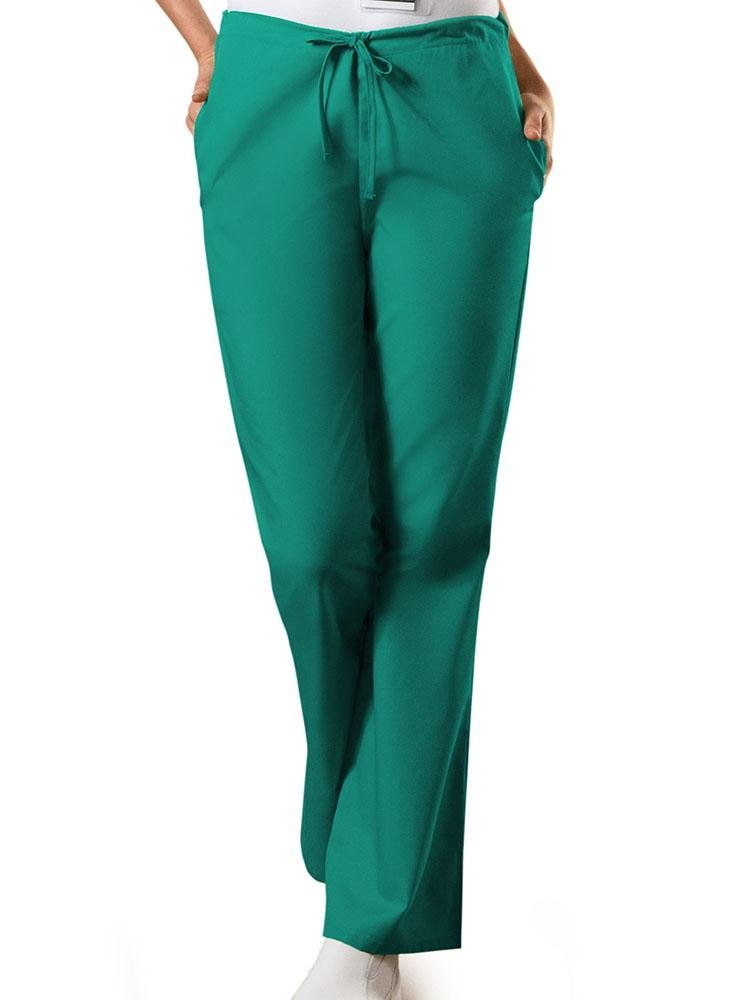 Cherokee Workwear Originals Women's Drawstring Flare Leg Scrub Pant | Surgical Green - Scrub Pro Uniforms
