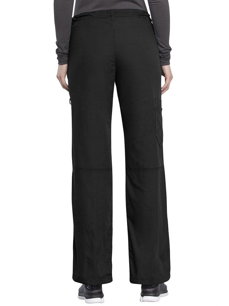 Cherokee Workwear Originals Women's Low-Rise Drawstring Scrub Pant | Black - Scrub Pro Uniforms