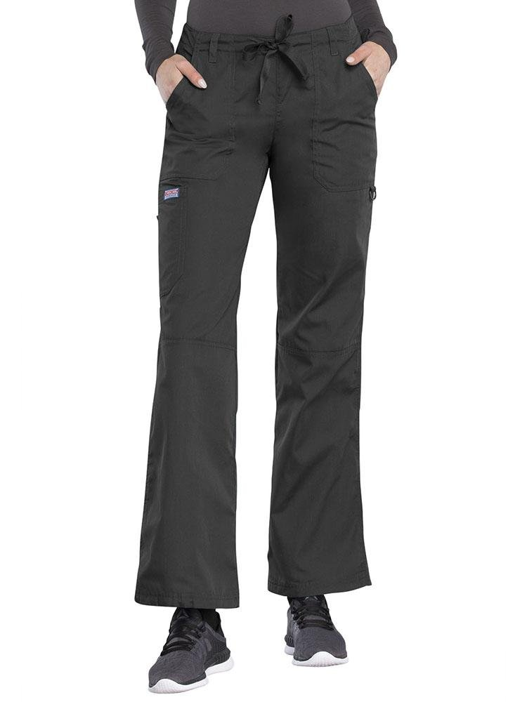 Cherokee Workwear Originals Women's Low-Rise Drawstring Scrub Pant | Pewter - Scrub Pro Uniforms