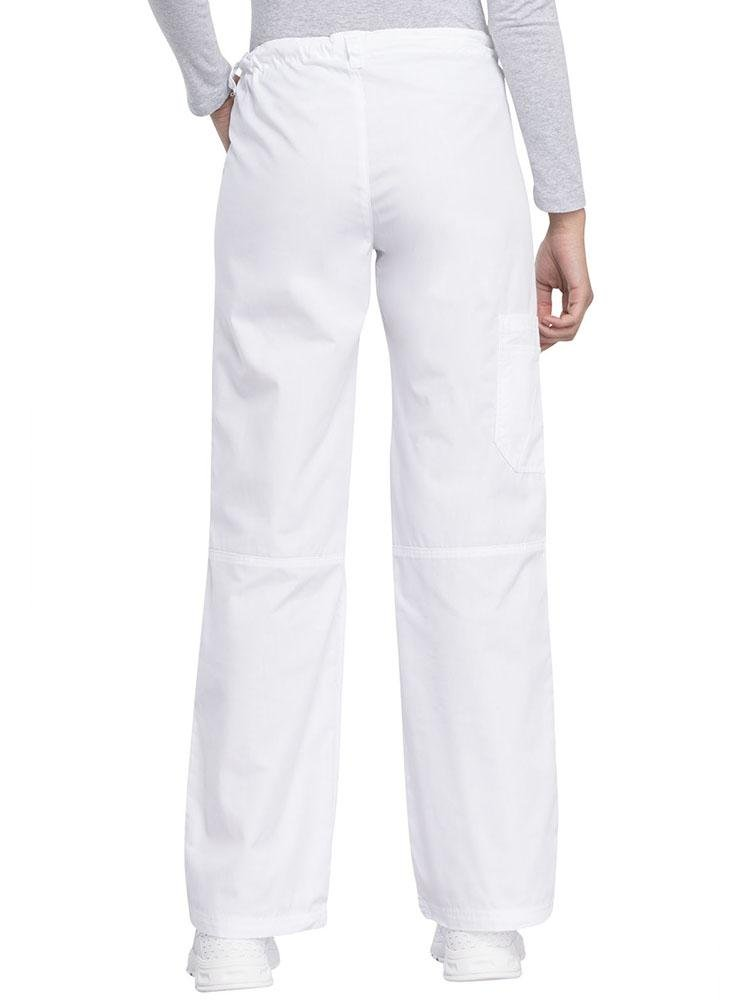 Cherokee Workwear Originals Women's Low-Rise Drawstring Scrub Pant | White - Scrub Pro Uniforms