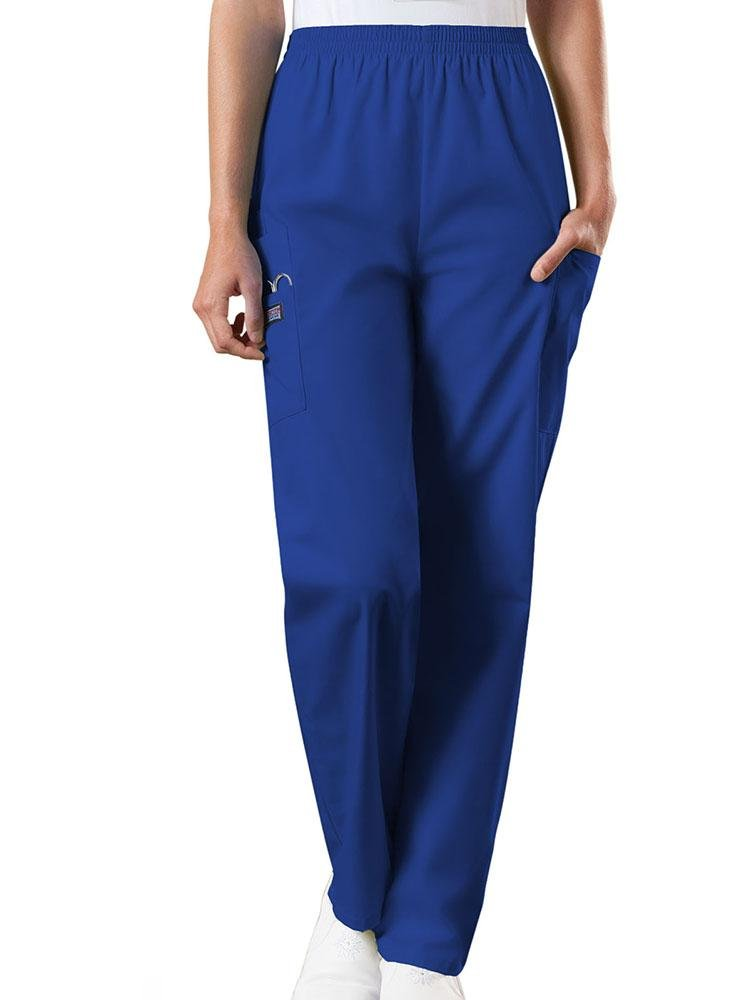 Cherokee Workwear Originals Women's Natural Rise Tapered Pull-On Scrub Pant | Galaxy Blue - Scrub Pro Uniforms