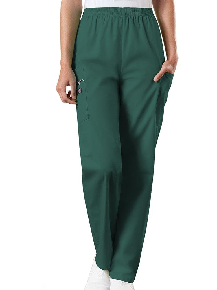 Cherokee Workwear Originals Women's Natural Rise Tapered Pull-On Scrub Pant | Hunter - Scrub Pro Uniforms